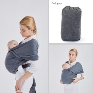 WKD Baby | Baby Sling Wrap Carrier | Extra soft material | Birth to 18 Months – Grey