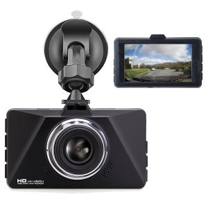 Dash Cam Car Camera by WKD Online -1296p and 1080p Full HD DVR Dash-Cam Recorder with 3″ Screen – Includes Built In Parking Monitor G-Sensor and Night Vision – Supports Mini USB Hardwire Kit